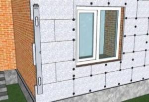 Утеплення фасадів будинку пінопластом